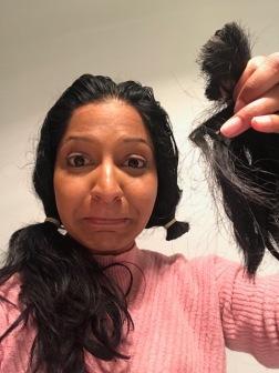 Cutting my own hair - eek!