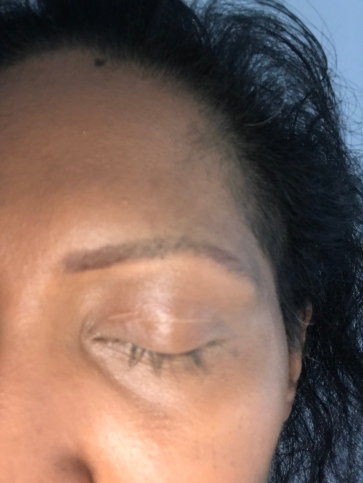 Magical eyebrow make up